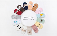 Wholesale Children Socks Wholesale Floor - 15 color Children socks Stereo ear baby socks Floor antiskid children sock 2017 new cartoon Antiskid kids sock