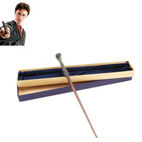 Wholesale New Arrive Metal Iron Core Harry Potter Magic Wand Harry Potter Magic Magical Wand Elegant Halloween Gift Box Packing