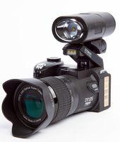 ücretsiz profesyonel video kameralar toptan satış-Yeni Polo Sharpshots 33MP D7200 Dijital Kamera HD Kamera DSLR Kamera Geniş Açı Lens 24x Telefoto Lens Seyahat Suit Sürüm Ücretsiz DHL