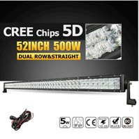 52inch 500W CREE Chips 5D LED Licht Bar Offroad Led Arbeitslicht Combo Fahrlampe für Jeep / Ford Pickup Truck 4X4 4WD 12v 24v