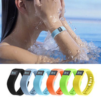 Wholesale FITBIT TW64 Smart Bracelet Bluetooth Wristbands watch Waterproof Passometer Sleep Tracker Function for android ios phone