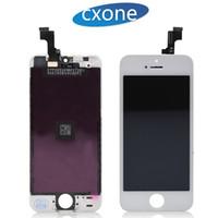 iphone 5g de la pantalla táctil del reemplazo al por mayor-Ensamblaje completo con marco para iPhone 5 5G 5S 5C SE Grado Calidad AAAA Reemplazo del digitalizador de pantalla táctil con envío rápido garantizado
