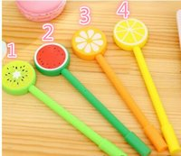 Wholesale stationery for kids resale online - DHL fruit styles gel pen cute lollipop pen creative gifts for kids school stationery office supplies for students hot sale