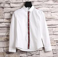 Wholesale Best Long Shirt Brand - New Fashion Men's Long sleeve shirt Jacket Casual Polos bee Brand G Man Business shirt coat Best quality