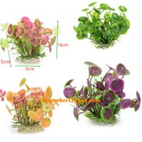 Großhandel NEUE 6 * 5 * 14 cm LIVE künstliche pflanzen aquarium Landschaft ornament kunststoff gras wasserpflanze blume aquarium dekoration Decor