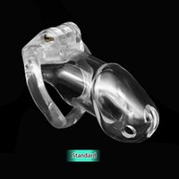Wholesale Clear Male Chastity Device - Amazing Price Clear Standard  Smaller Cage The 100% Biosourced resin chastity device Sex Toys For Man CD076-1 CD077-1