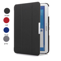 Wholesale Nook Leather - Wholesale-4 color Ultra Slim case for S amsung galaxy tab 4 10.1 T530 T531 NOOK Barnes&Noble smart cover case with magnetic Auto Sleep