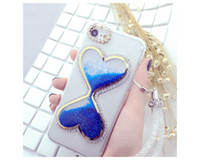 Wholesale Diamond Bling Heart Iphone - For Apple iphone 6 6 S 6 7 Cellphone Case Luxury Bling Crystal Rhinestone Diamond Heart Back Case Covering Shell