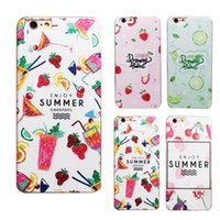 Wholesale Black Apple Fruit - For iphone 6s 6plus 7 7plus Summer Fruit Printing Hard PC Protective Back Cover Case for iphone6 7 plus