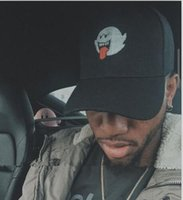 New Black Denim Distressed Boo Mario Ghost Dad Hat Vetements Cap hip hop baseball Cap bonés para homens snapback feminino Casquette bone gorras