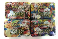 Wholesale Wood Ash - 2017 Creative Poke Go Cards With Metal Box 41pcs English Words Cards Pikachu Ash Ketchum Trading Game Card Kids Toys