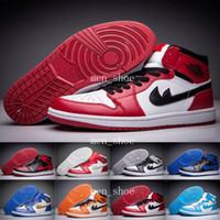 Wholesale Zapatillas Basketball - [With Box]Retro 1 Basketball Shoes Men White Airlis Retros 1s Casual Shoe Athletics Man Zapatillas Deportivas Sports Sneakers Size5.5-13