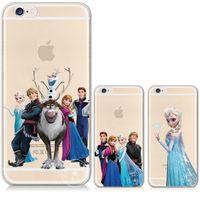 Wholesale Iphone Cases For Printing - Congelados Princess Snow Queen Elsa Anna Transparent Silicone Soft TPU cover print phone case for iphone 5 6 6s plus 7 7plus