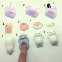 Wholesale 3d Cases For Blackberry Cartoon - Stress Reliever Toy Lovely Cartoon 3D Soft Q Elastic Squishy Cat Panda Seal Chick Silicone For Cellphone Case