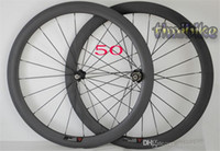 Wholesale Road Bike Group Sets - Carbon Knife Highway Wheel Group 50mm Carbon Fiber Open Highway Bicycle 700C Tube Tire Fat Ring 24 | 38 | 60 | 88