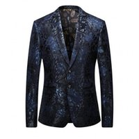 Wholesale Loose Fitting Coats - Printed Velveteen Suit Men's Coat Costume Blazers Retro Gentleman Style Tailor Commerce Party Slim Fit De Mariage Pour Hommes