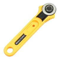 Wholesale Rotary Leather Cutter - Leather Craft Tools Circular Cut Yellow Rotary Blade Cutter Patchwork Fabric Leather Craft Sewing Tools