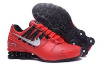 Wholesale Men Crystal Leather - 2017 new mens shoes shox avenue 803 crystal casual for men running walk red bottoms trainerman air shox turbo designer sneakers