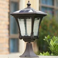 Swimming Pool Ac Rgb Solar Lights Lanterns Headlights Waterproof Pillar Light Outdoor Villas Garden Lamp