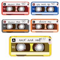 Wholesale Iphone Cases Cassette Tape - Colorful Tape Cassette Retro Fashion Phone Case for iPhone 6 6Plus 6s 6 7 7Plus 5 5s SE 8 8Plus X Samsung