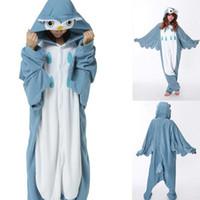 Wholesale Cheap Suit Pajamas - Cheap Owl Animal Costume Kigurumi Pajamas Cosplay Halloween Suits Adult Romper Cartoon Jumpsuits Unisex Animal Sleepwear