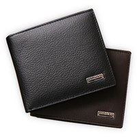 Wholesale Wholesale Cowhide Wallets - Wholesale- 100% genuine leather mens wallet premium product real cowhide wallets for man short black walet portefeuille homme