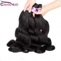 Wholesale Diy Hair Weft - Wet Wavy No Weft Human Hair Bulk For Extension Reliable Unprocessed Body Wave Indian Bulk Hair Extensions Bundles 3pcs Colored DIY