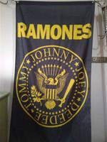 Wholesale Cm Festival - Ramones Flag 90 x 150 cm Polyester Punk Rock Band Music Festival Banner