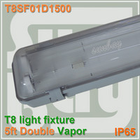 Wholesale T8 LED tube ceiling fixture ft double row mm waterproof with G13 holder and accessory cm fitting ft vapor