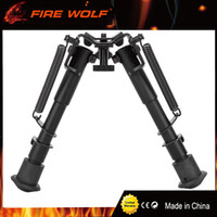 "Wholesale Grip For Rifle - 2017 New Hot 6""-9"" Tactical Rifle Bipod Fore Grip Mount with Fully Adjustable Spring-Ejects Legs for Airsoft Painball"