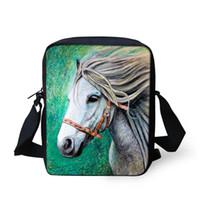 Wholesale Spanish Boys - Wholesale- Animal Men Messenger Bags Crazy Horse Print Shoulder Bag for Children Kids Spanish Travel Bags Small Bolsa Boys Corssbody Bag