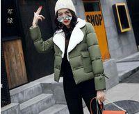 Wholesale Womens Short Red Parka - 2017 new TOP Real Womens Lapel Wool Warm Parka Winter Short plush Christmas Vest Jackets OvercoatSize XS-L