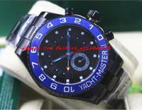 Wholesale Dlc Pvd - Fashion NEW Regatta Black DLC Stealth PVD 44mm 116680 Mechanical Men Watches Top Quality Luxury Wristwatch