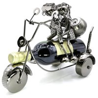 Wholesale Racking Wine - free shipping by post,lover sweethearts motorcycle wine holder rack,metal artwork,