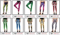 Wholesale Hot Girls Sexy American - Hot sale 2017 spring fashion women sexy women pants pants prints Tights Leggings pattern of graffiti girl KDK1563-1627