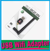 Wholesale Wifi Router For Pc - USB External Dongle Wireless wifi Wi Fi Wlan Adapter 150M 150Mbps LAN Network Card Router for PC Laptop 802.11b g n+5dB Antenna