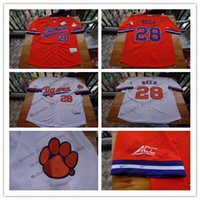 Wholesale Beer Baseball - Clemson Tigers College Baseball Jerseys Seth Beer 28 Home Road Away Orange White 100% Stitched Logos Shirts Good Quanlity