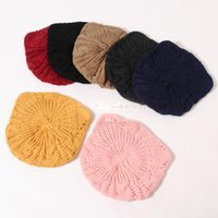 Wholesale Kids Knit Cat Beanie - Fashion Cat Girls Knitted Winter Caps kids Knitted Beanie Hat Baby Girls Caps beret Korean Wholesale Wholesale Caps Children Cap 3-10y A1188