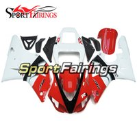 Wholesale 99 Yamaha R1 Plastics - Bodywork For Yamaha YZF1000 1998 1999 98 99 R1 Injection ABS Fairings Motorcycle Fairing Kit Injection R1 Plastics Cowling Red White