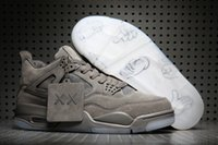 Wholesale Box 4s - KAWS x retro 4s iv 2017 men basketball shoes with originals box size eur 41-47 free shipping wholesale