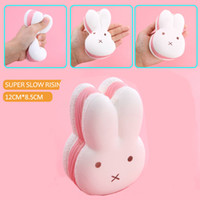 Wholesale Miffy Rabbit - 12CM Jumbo Kawaii Squishy Miffy Rabbit Head Soft Cute Animal Slow Rising Bread Cake Sweet Scented Kid Toy Gift Wholelsales