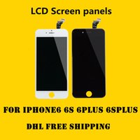 Wholesale Iphone Complete Set - DHL free shipping A-level +++ LCD display Touch digitizer complete screen iPhone 6 6s iphone 6 plus 6splus black frame full set replacement