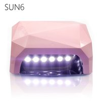 Wholesale Sun Nail Art - SUN6-36W UV LED Lamp UV Nail Dryer SUN Light 365-405nm Nail Lamp Diamond Shaped Curing for UV Gel Nails Polish Nail Art Tools