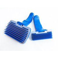 Wholesale Hair Ornament Combs - Pop Pet Shedding Tool Brush Dogs Cats Hair Short Large Grooming Brush Comb With 2 Size 17030202