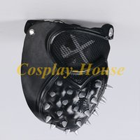 props party Cos Gioco Guardare Cani 2 Marcus Cosplay Holloway Maschera Latex Mask Halloween Party Prop