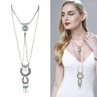 Wholesale Package Long Necklace - Promotional package Europe and the United States and a wide range of turquoise turquoise long sweater chain accessories