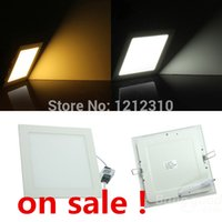 Wholesale Thin 1w Led - Wholesale- 9W LED Panel Light high brightness Ultra Thin AC85-265 9W LED Panel Light Recessed ceiling light with retail package free ship