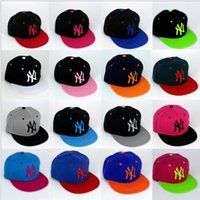 Wholesale hot sale colors Yankees Hip Hop MLB Snapback Baseball Caps NY Hats MLB Unisex Sports New York Women casquette Men Casual headware M015