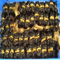 satılık ombre hair extensions toptan satış-Sıcak Satış Ombre Brezilyalı insan saç Uzatma 24 adet / grup Demetleri Örgüleri Toptan Yeni Satış DHgate