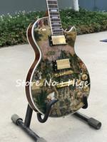 ingrosso immagini di calza di qualità-in stock nuova chitarra elettrica di alta qualità di stile con bellezza cinese nell'immagine The Story of the Stone, guitarra di vendita calda